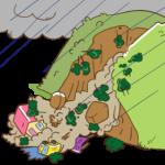 landslide(地滑り)とアイスクリームのトッピング
